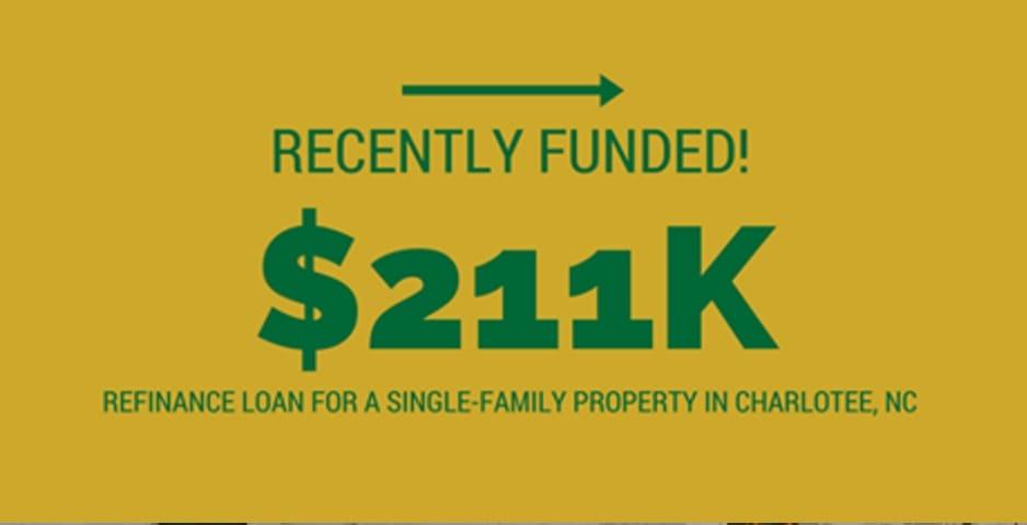 $211k Refinance loan in Charlote, NC